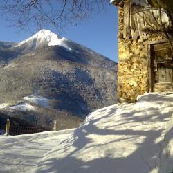 Pic du Cagire depuis le massif de Paloumère